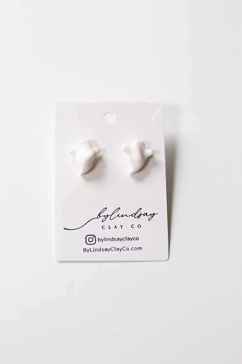 Ghost Studs- LARGE