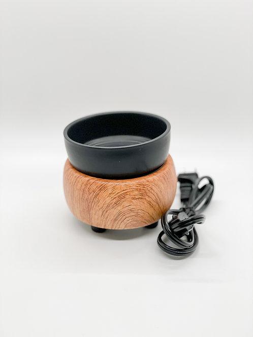 Wax Tart Warmer- Wood & Black