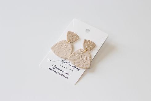Neutral Polymer Clay Earrings
