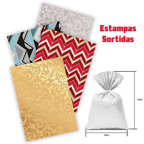 50 Embalagens / Sacos para Presente 10x14cm