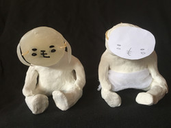 もっちゃん立体(紙粘土)