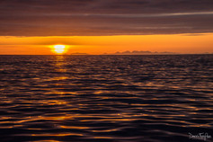 Sunrise beside Eigg, Rum and Canna