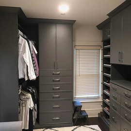 We LOVE a good before & after! 😉Swipe ➡️ to see the before. We helped this client design a better system to fit the space. Our bluestone color is a favorite right now.   ✨ You Imagine, We Create! ✨   #customcloset #beforeandafter #grossepointe #customstoragesolutions #closetgoals #organizedcloset