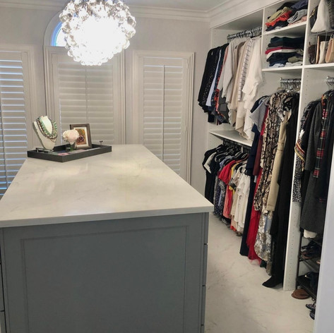 This closet is everything; timeless, classy & functional. We love helping our clients bring their visions to life!   ✨You Imagine, We Create! ✨   #grossepointe #closetinspo #closetdesigns #closetorganization #closet #closetmakeover #customclosets #marble #closetisland #storage #homeorganization #organization #organziedcloset #gpstrong #gptogether