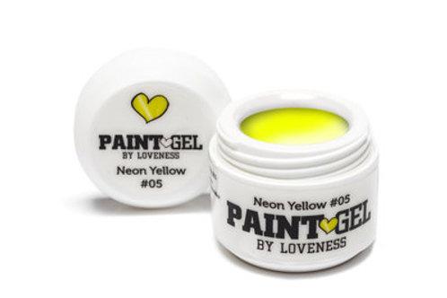 Paint Gel by #LVS | Neon Yellow 05 5gr