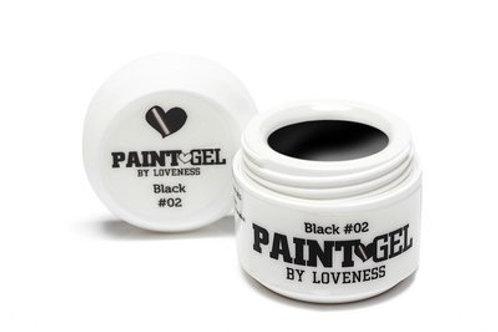 Paint Gel by #LVS | Black 02 5gr