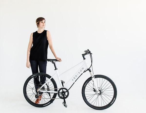 Edison white electric bike
