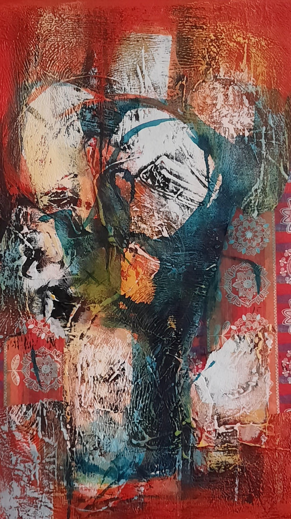 Red Room_mixed media on Canvas_20x16 inc