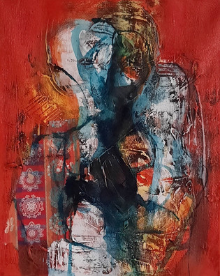 Red Room 2_mixed media on Canvas_20x16 i