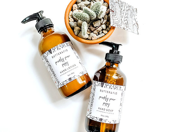 DESERT LOTION + HAND SOAP SET  WITH BUNNY EARS CACTUS