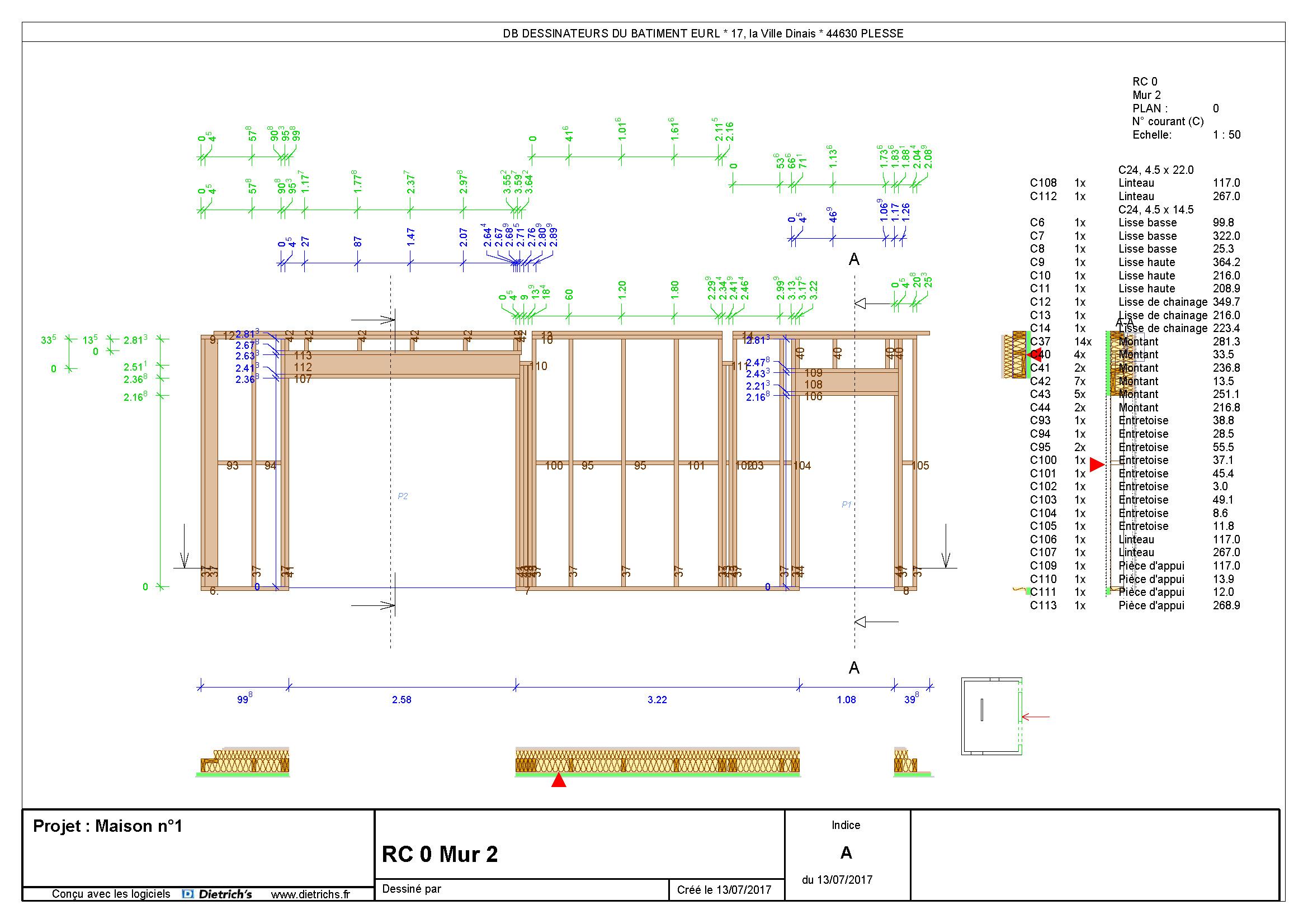 Exemples De Plans Db Etudes Ossature Bois