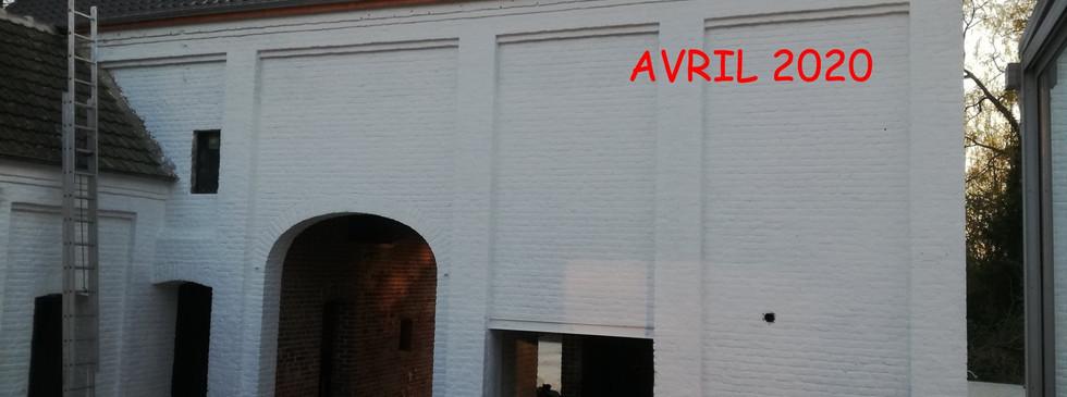 Grange pendant la rénovation