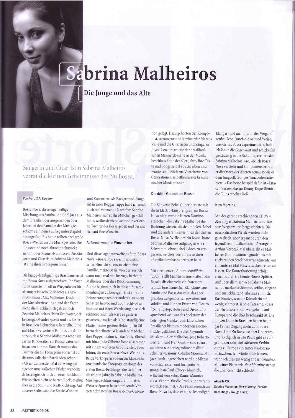 Jazzthetic Interview (Germany)