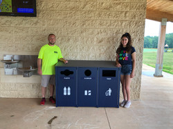 New Recycling Bins at Rescue Squad Park