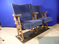 Theatre seat  Gold Side Blue Seat