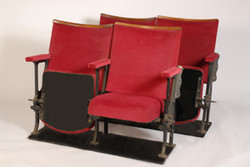 Red Theatre Seats Black Frame