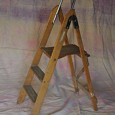 Small Wooden Period Step Ladder