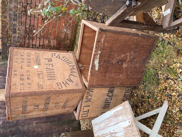 wooden tea chests