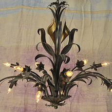 Gold Flower Chandelier