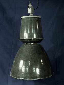 Black Enamel Factory Light
