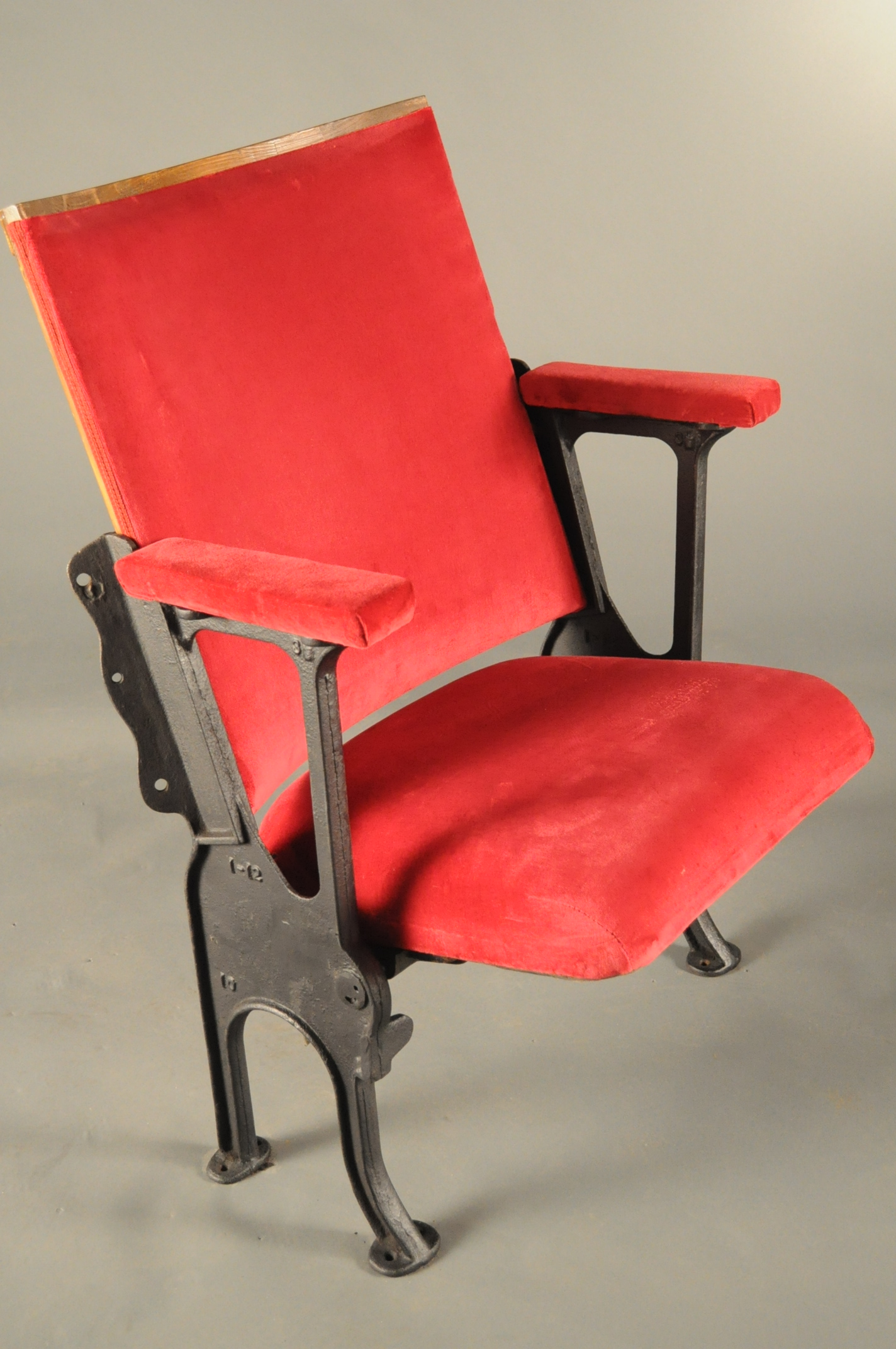 Theatre Seat Black Side Red seat