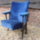 Wimbledon Blue Theatre Seats (Black Legs)