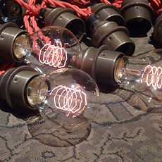 Red Vintage Cable Festoons