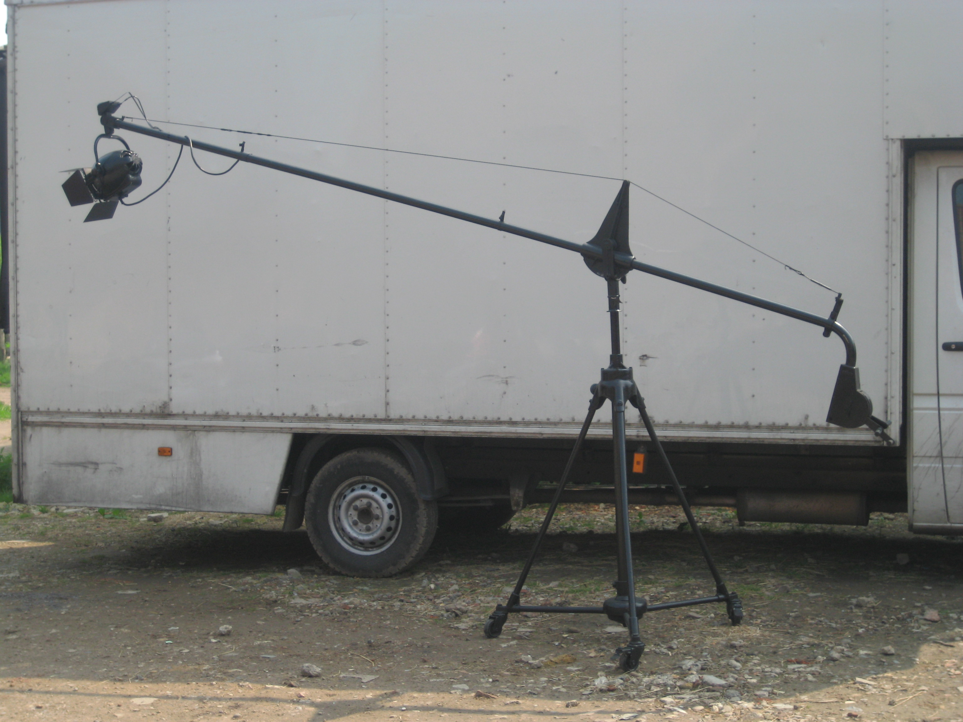 Mic Boom on Hvy  Coll Period Stand