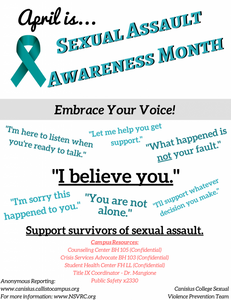 April Is… Sexual Assault Awareness Month – Embrace Your Voice!