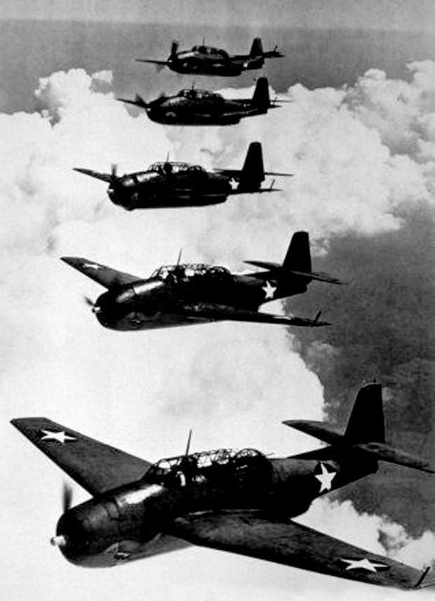 American Navy Avenger planes