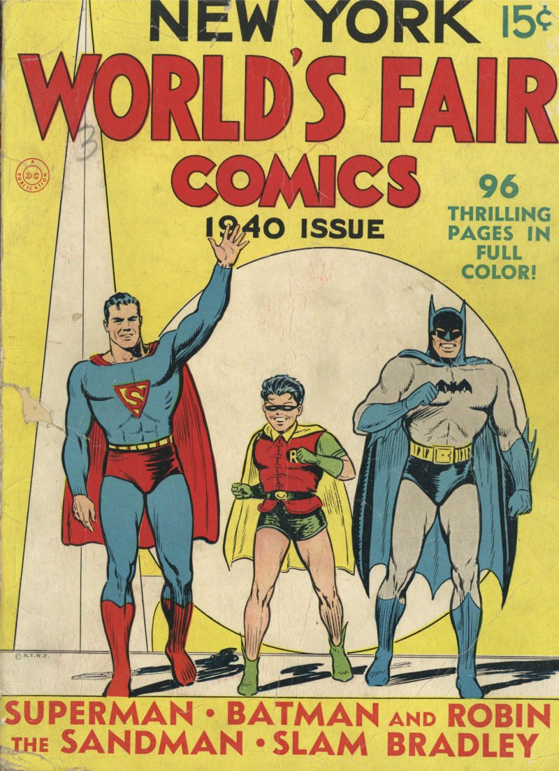 1940 New York World's Fair Comics cover with Batman.