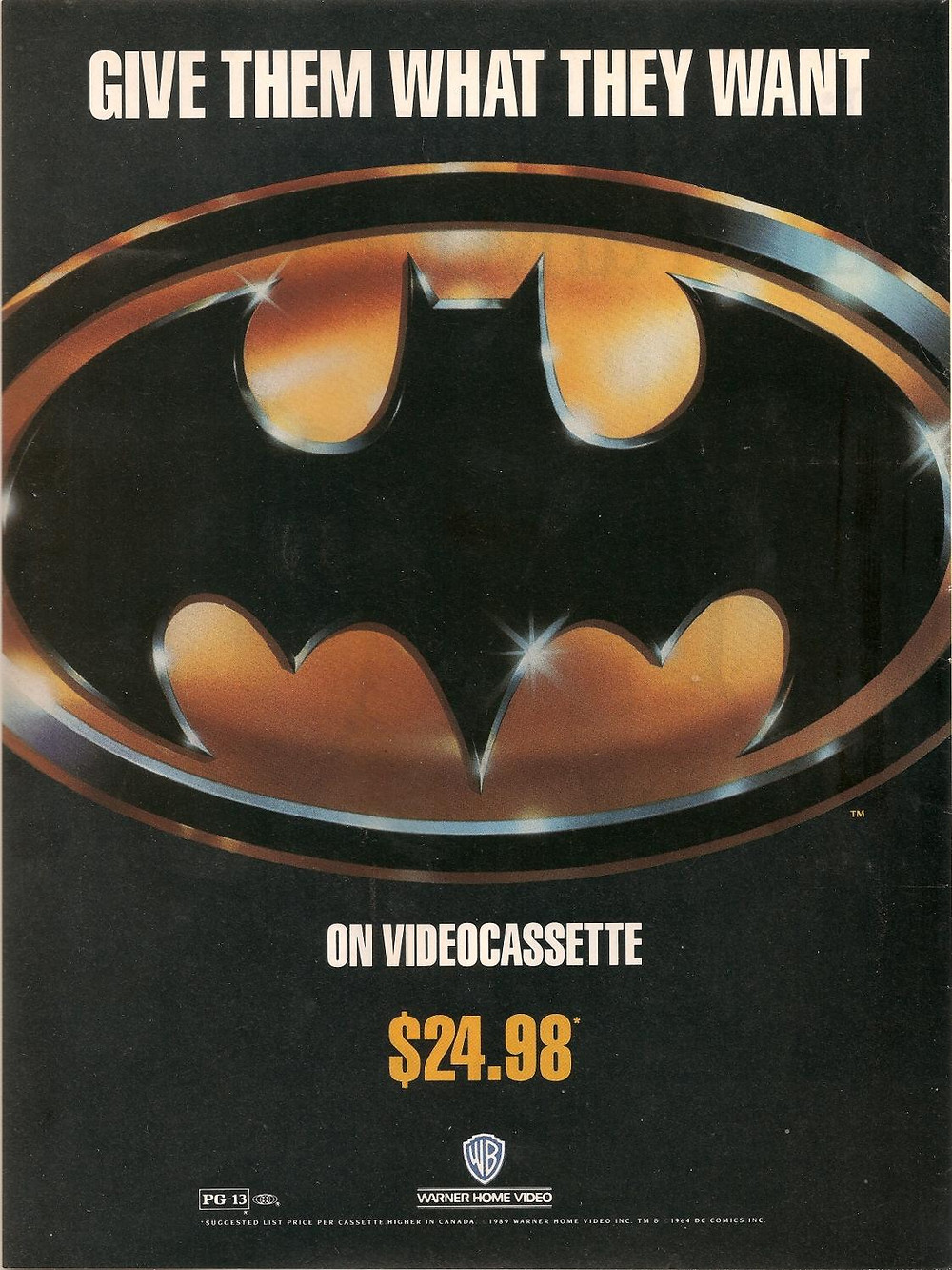 Batman 1989 Movie Poster