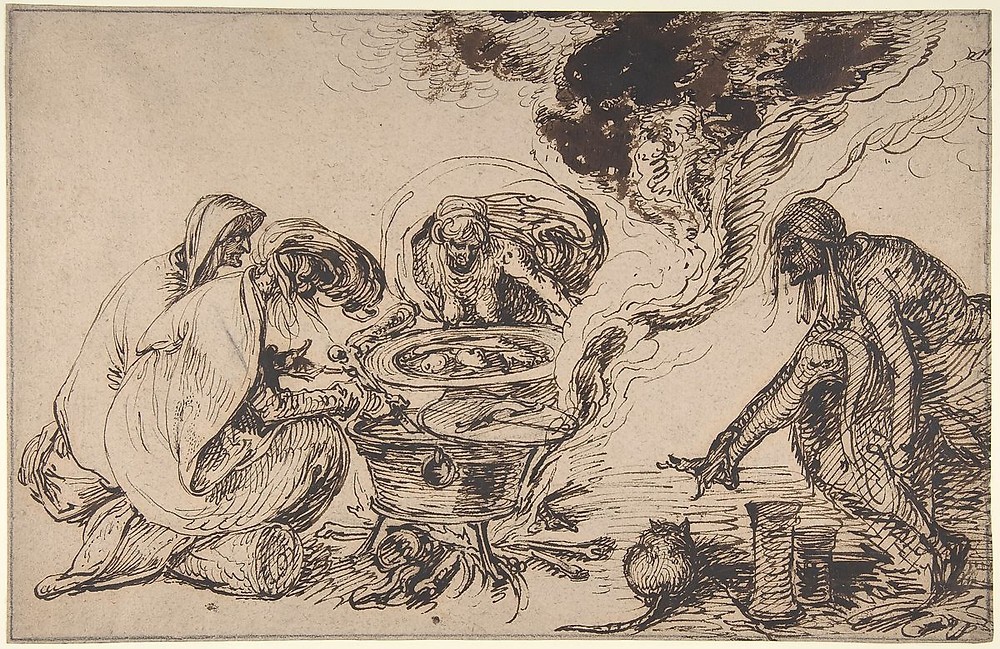 Witches' Sabbath late 16th–early 17th century Jacques de Gheyn II Netherlandish