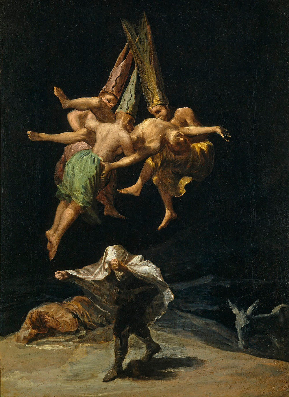 Witches' Flight Spanish: Vuelo de Brujas Photo by Francisco Goya