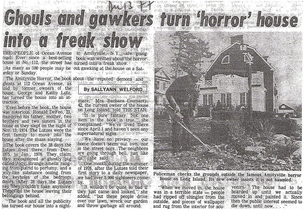 Amityville Murder Newspaper Archive From Sallyann Welford