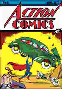 Action Comics cover, No. 1, published June 1938. A pristine copy of the comic sold at auction for $3.2 million on Sunday.(DC Entertainment )