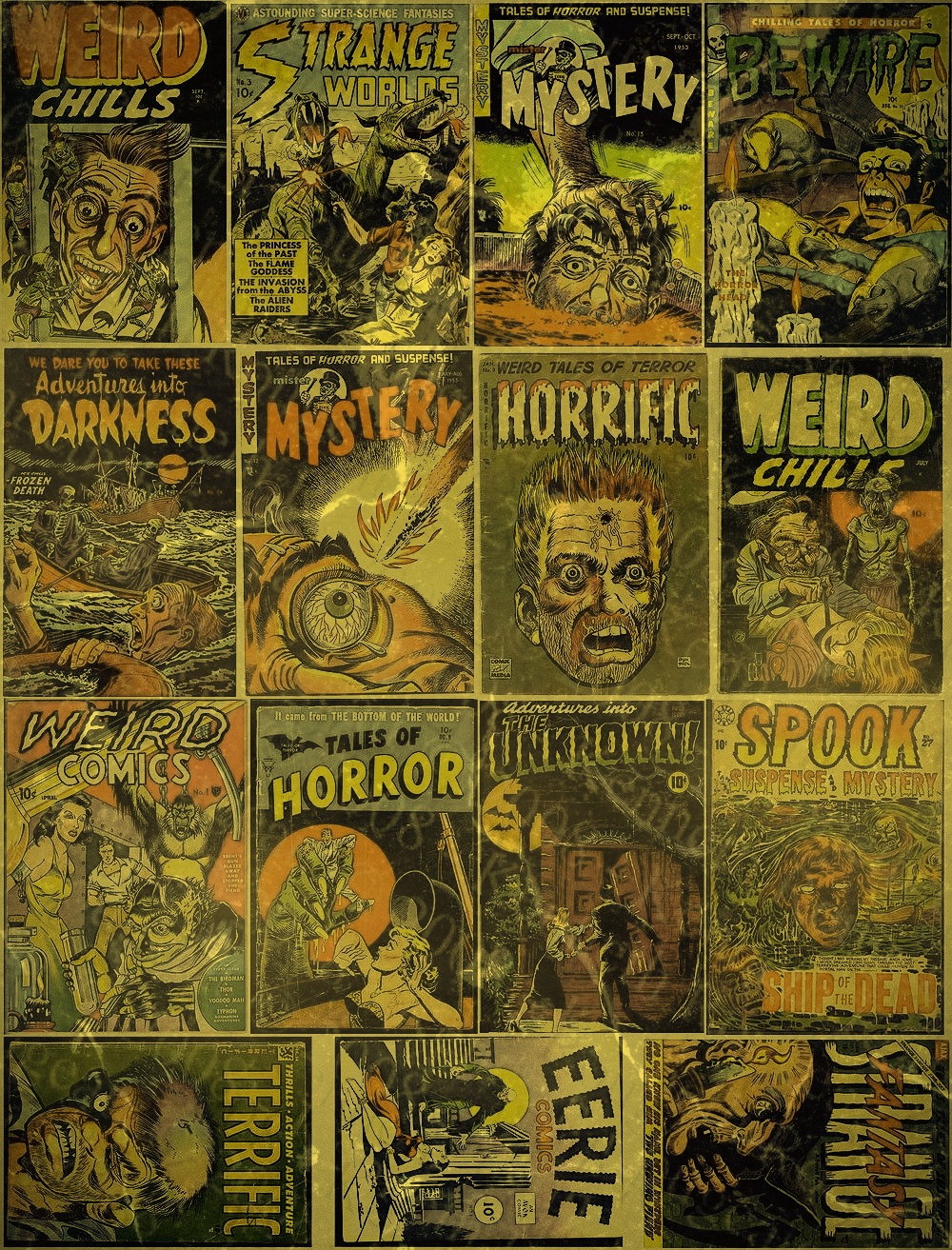 PART 2 - RARE HORROR COMICS by ''Mc Chai'' Mehmet Şevki Akçay