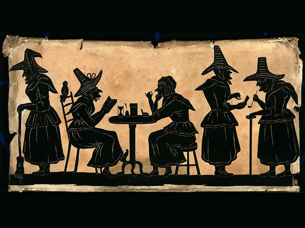 Witches: Five Silhouetted