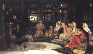 Consulting the Oracle by John William Waterhouse (1884)
