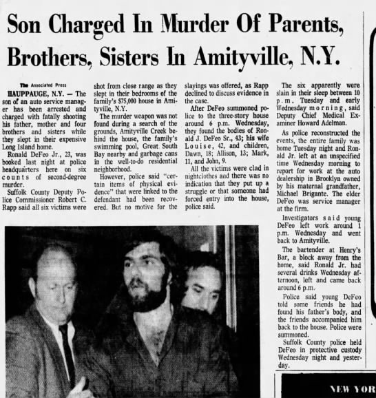 Amityville Newspaper Archive From The Associated Press