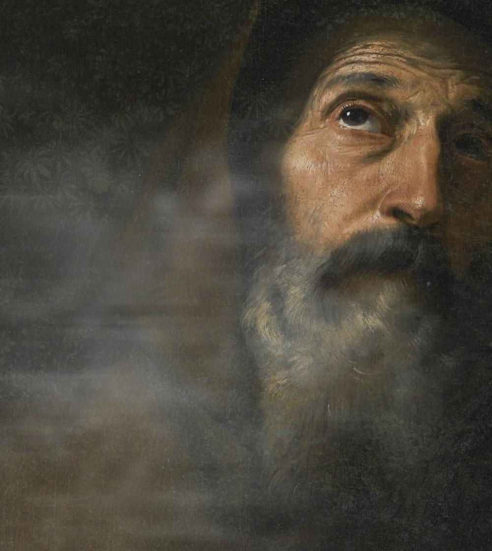 Jusepe de Ribera — St. Francis of Paola (detail), c. 1640.