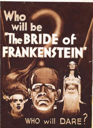 Bride Of Frankenstein Slogan Poster