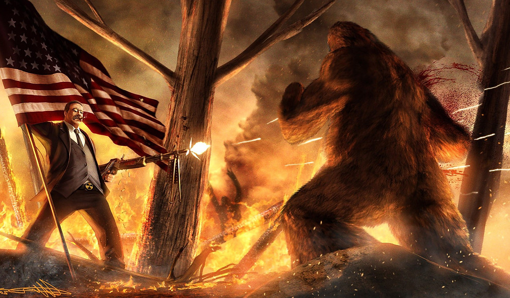 Teddy Roosevelt Vs Bigfoot