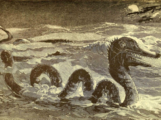 In the view of Mad Science: Sea Serpents and lake monsters fantasy.