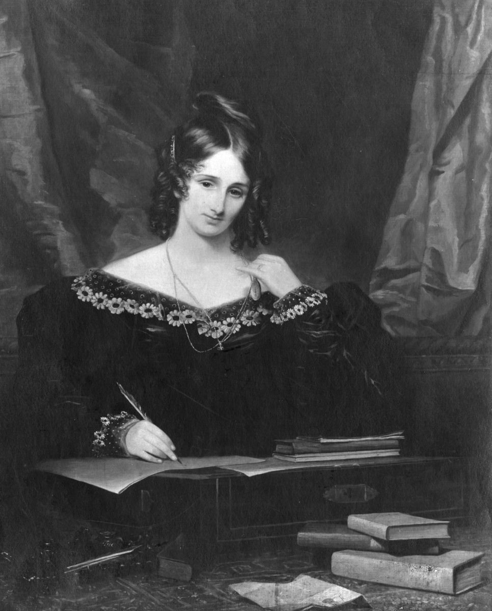 Classic Black & White Mary Shelley's Portrait