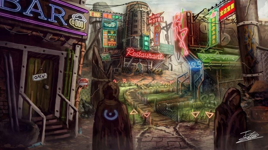 Cyberpunk Desert by Jerico Cinco