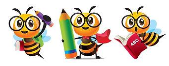 bee-back-school-set-cartoon-260nw-193919