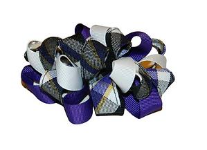 Purple, White & Black Plaid Loopy Hair B