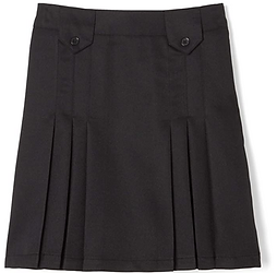 Front Pleated SOLID Black Skirt with Tabs for iPlanets Academy