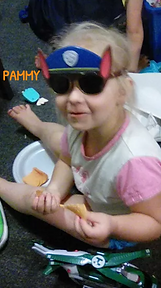 Pammy playing Dress Up at iPlanets Academy